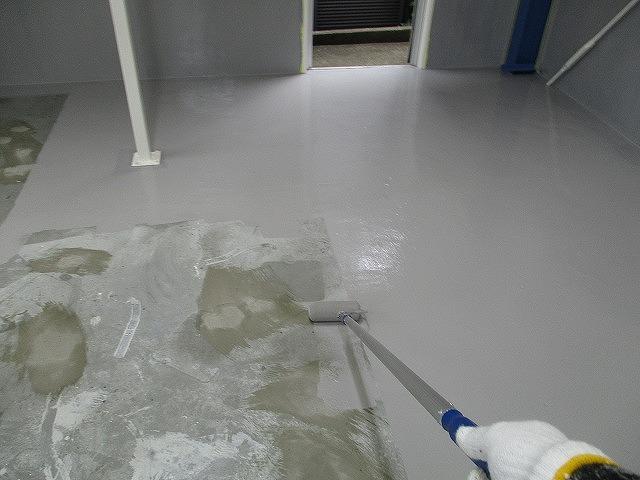 コンクリート床 防塵塗装