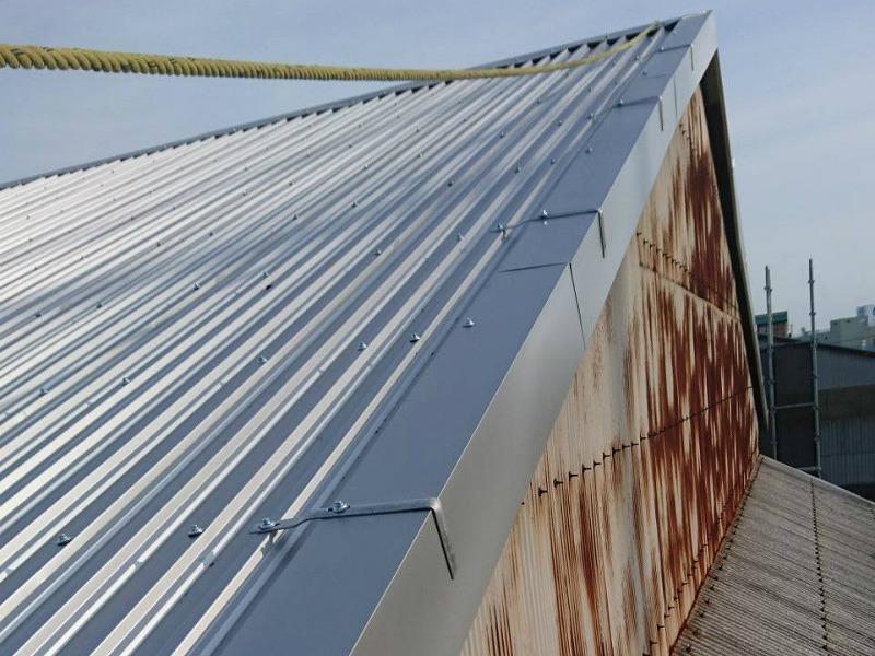 ガルバリウム屋根ケラバ