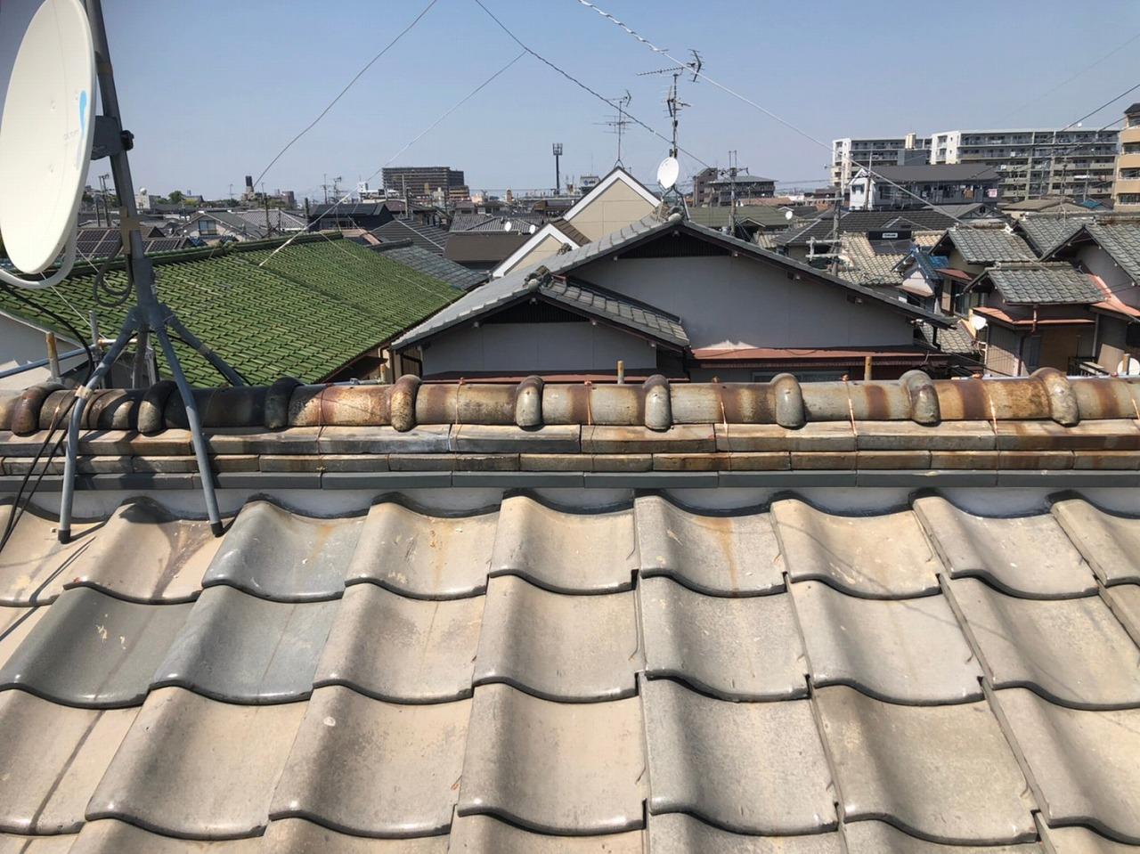 屋根工事完工