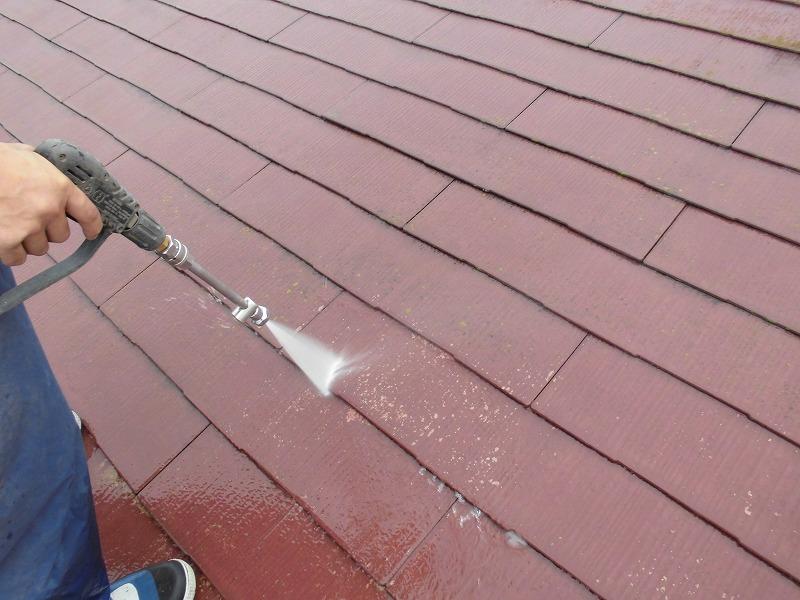 スレート屋根高圧洗浄