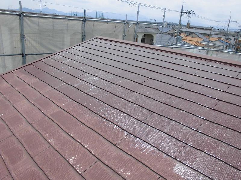 スレート屋根シーラー塗り