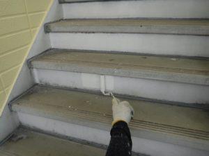 階段サビ止め