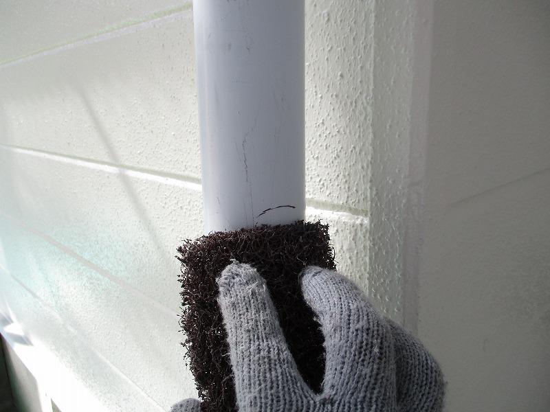 雨樋の研磨