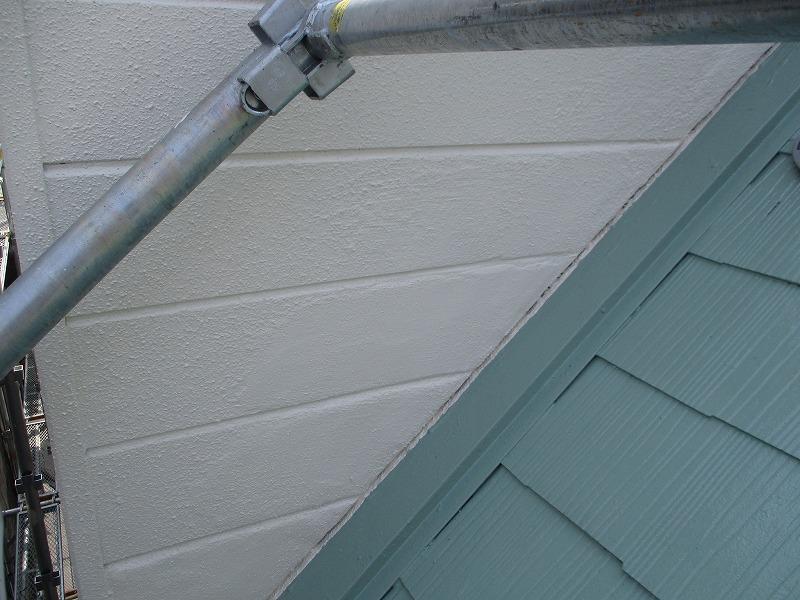 左官補修箇所の外壁塗装後