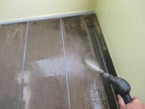 廊下床 洗浄