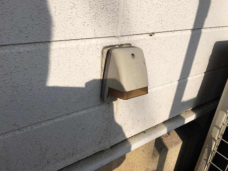 塗装前の屋外用コンセント