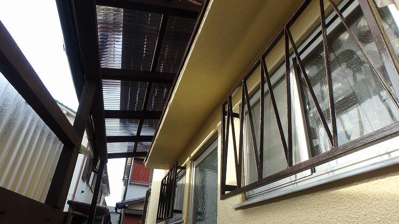 外壁塗装後の波板