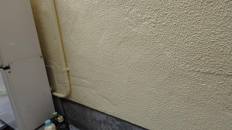 左官補修後の外壁