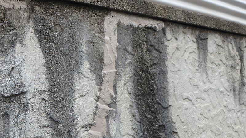 ベランダ外壁のひび割れ補修