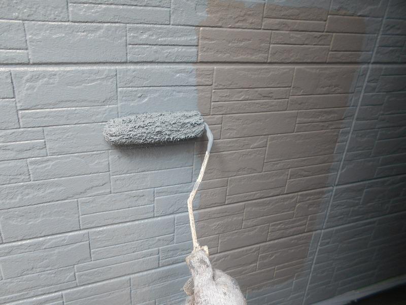 3階の外壁の上塗り