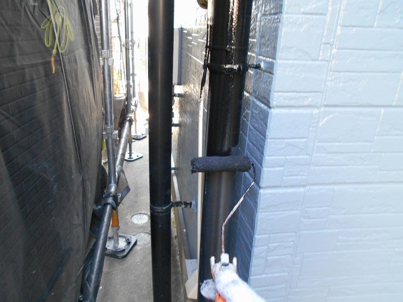 雨樋の塗装を実施