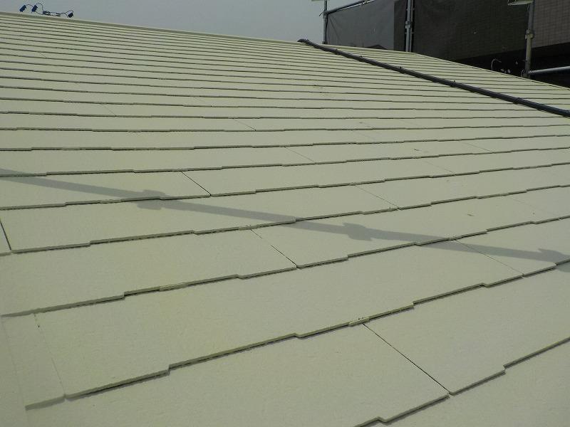 屋根塗装後の屋根全体
