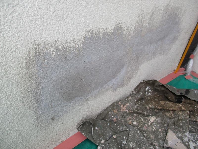 左官補修したモルタル壁