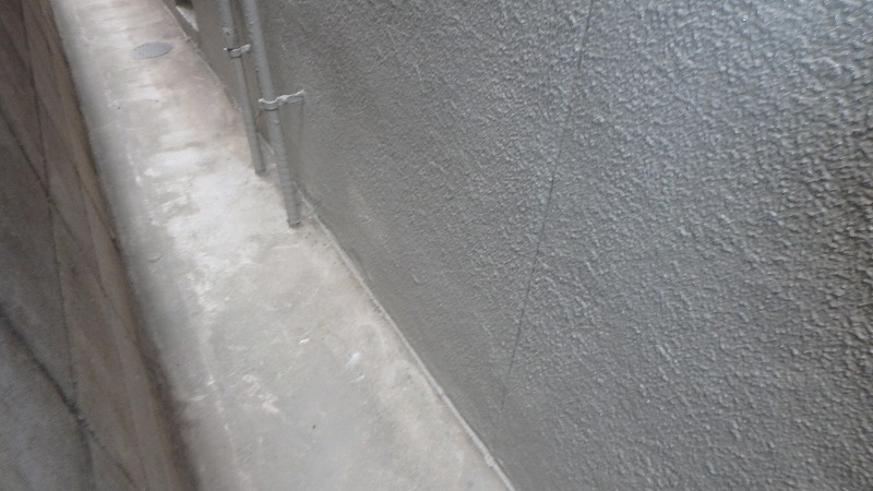 左官補修跡が目立たない外壁