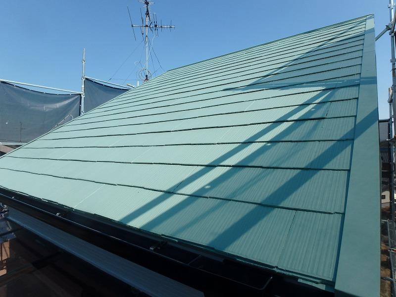 塗り替え後の屋根