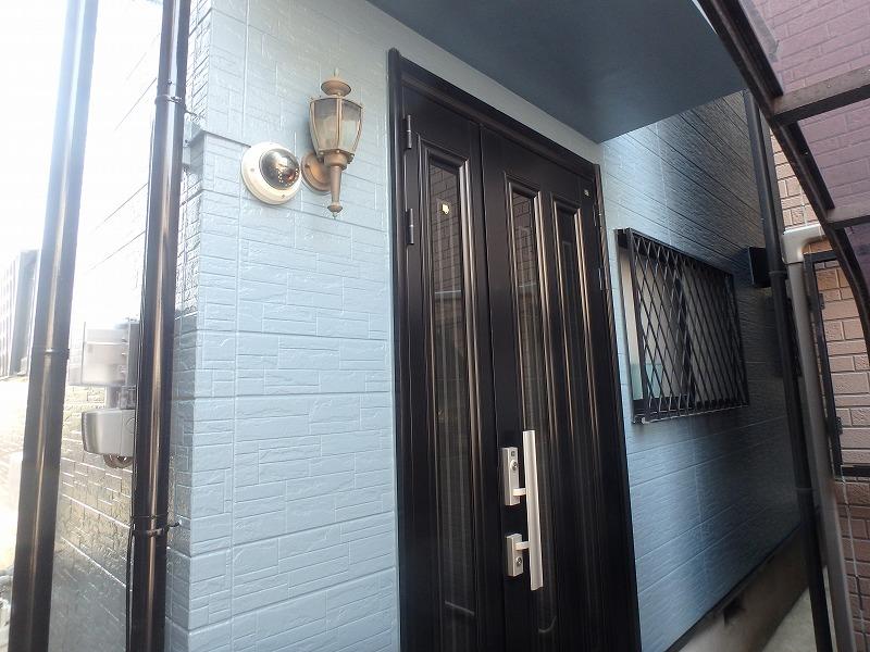 塗装後の玄関