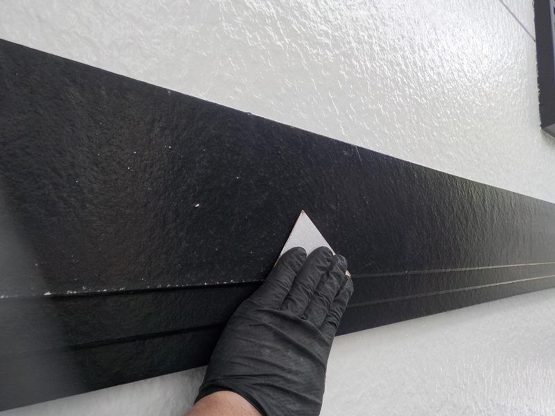 幕板塗装のケレン