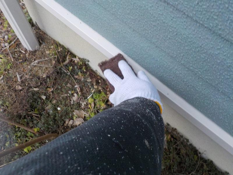 水切りの塗装前の研磨