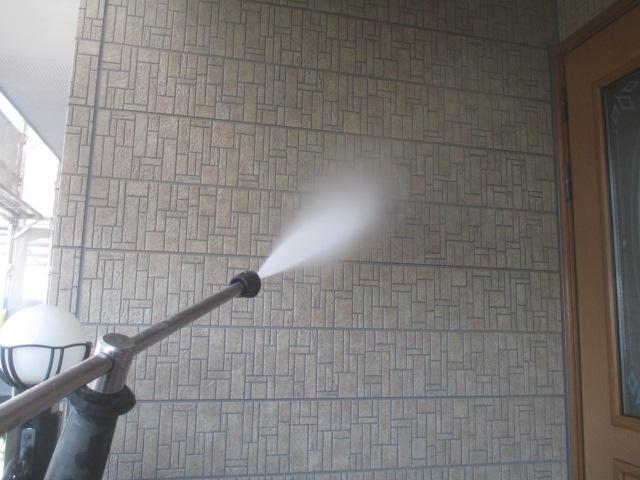 外壁の高圧洗浄工事