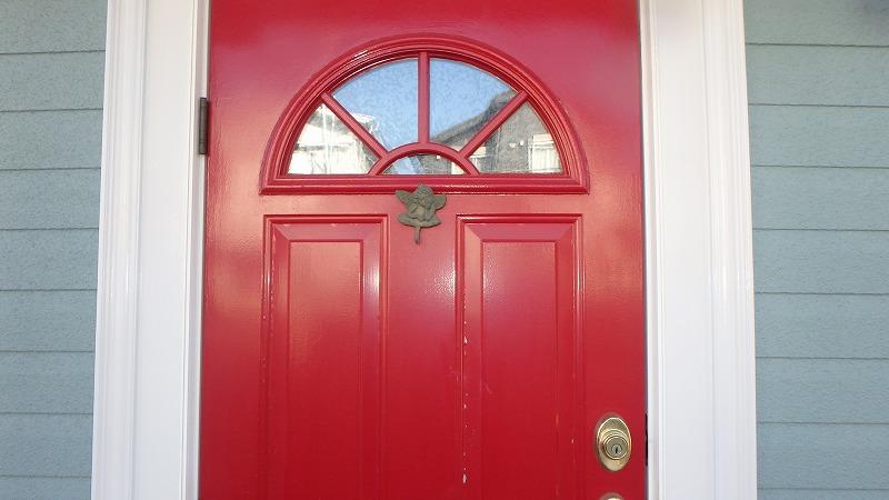塗装前の玄関