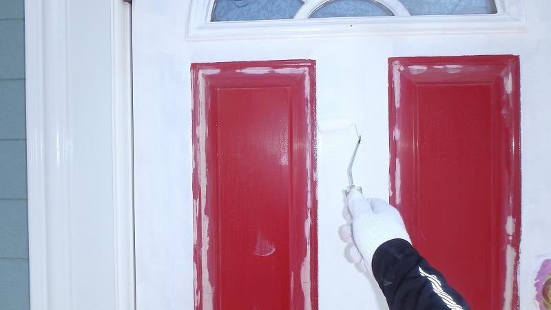 玄関の下塗り