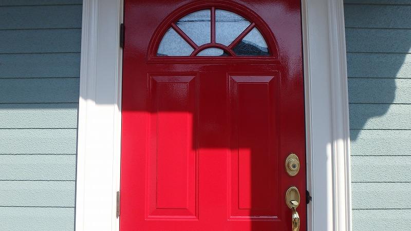 玄関の塗装完成