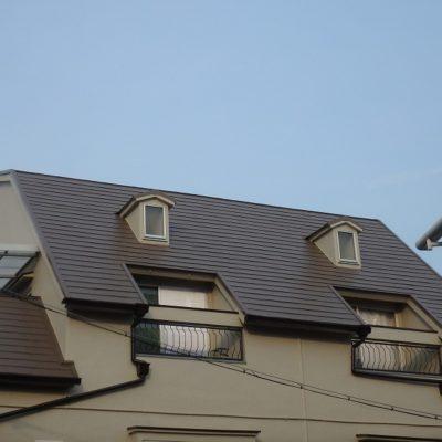 屋根塗装後の屋根全体の様子