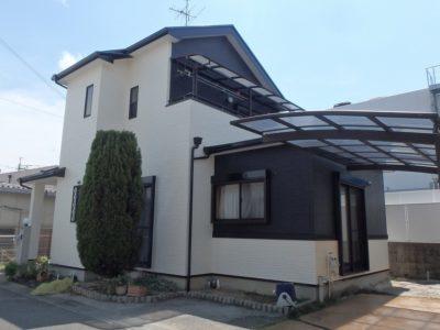 屋根、外壁塗装、シール打ち替え完工