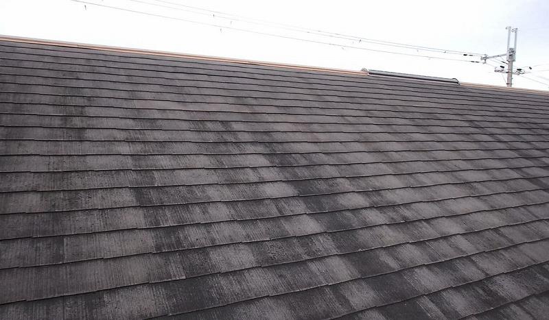 屋根塗装前のスレート屋根