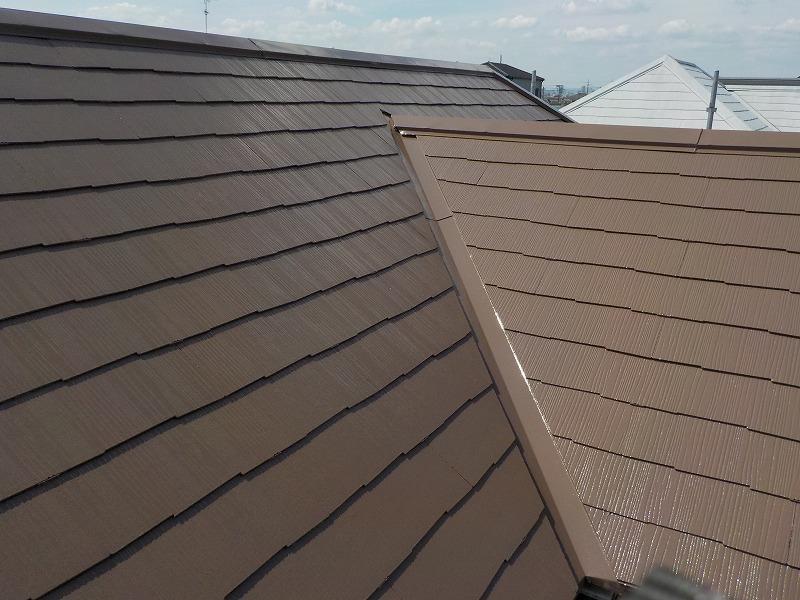 屋根塗装施工後の屋根の様子