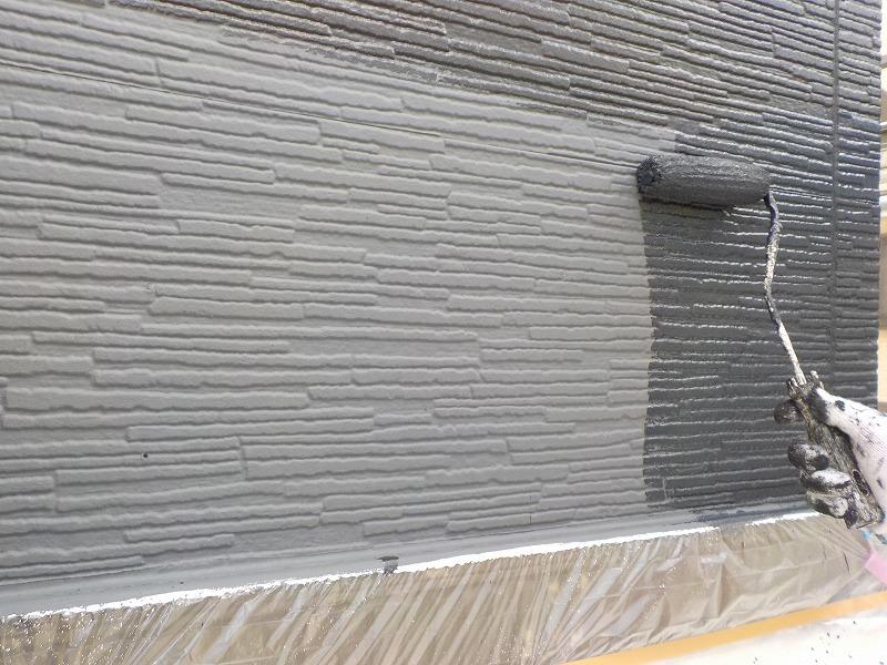 外壁(平パネル)の上塗り