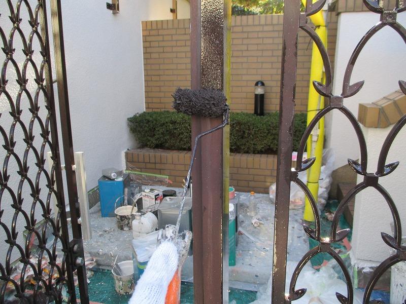 門扉の塗り替え