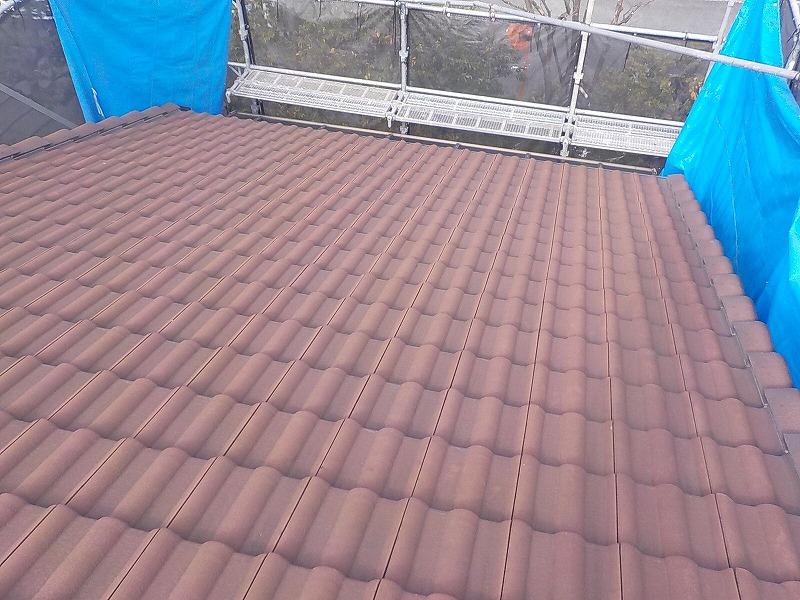 塗り替え前の屋根全体