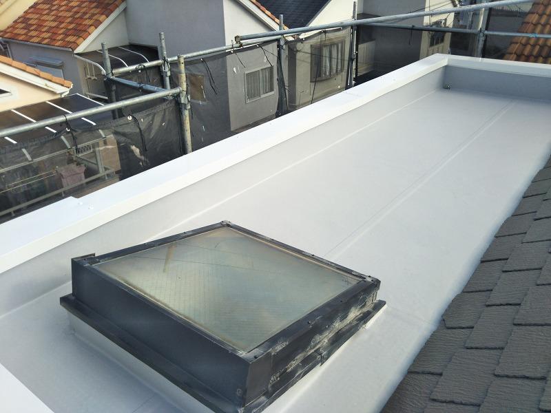 雨漏り修理後の屋上の様子