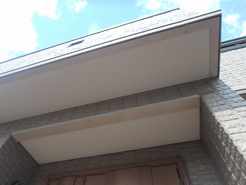 外壁塗装後の軒天