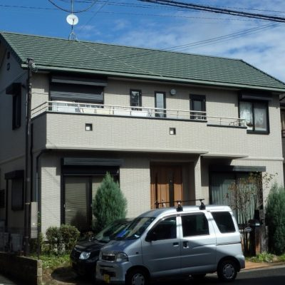 外壁塗装前のトヨタホームお住まい全体