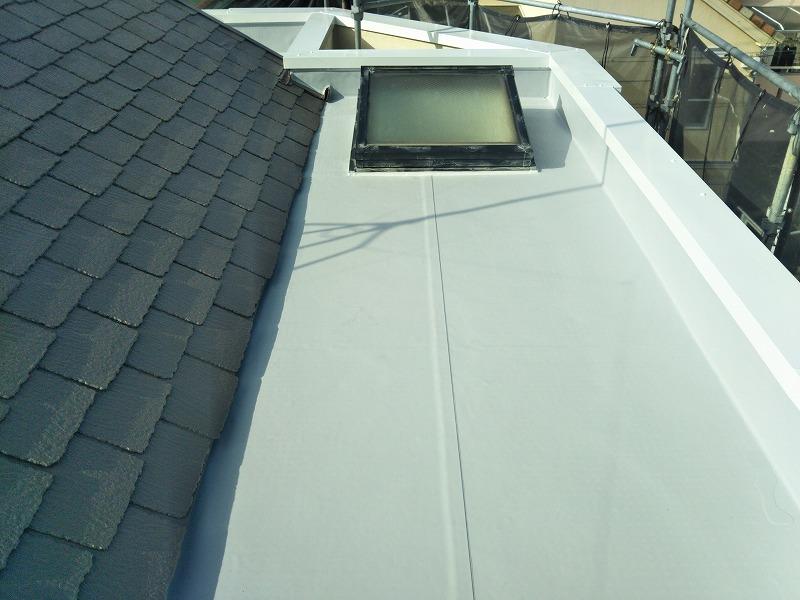 防水工事施工後の屋上