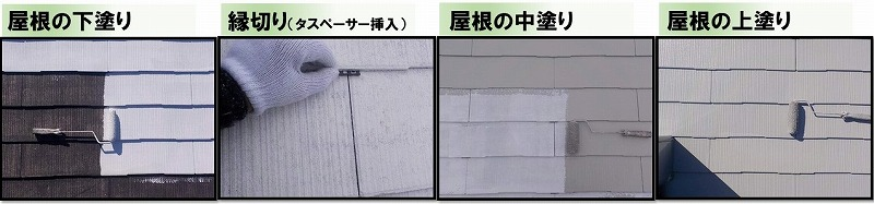 屋根工事の見積り例