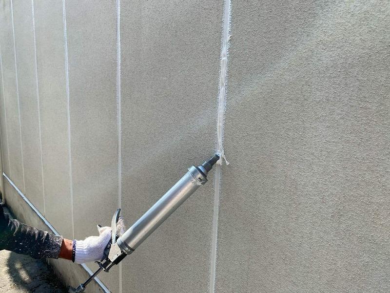 外壁修理コーキング充填