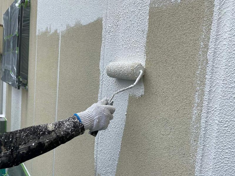 ALC外壁塗装リフォーム 下塗り