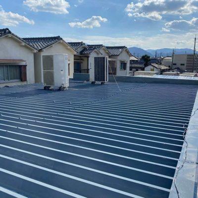 折板屋根塗装完工