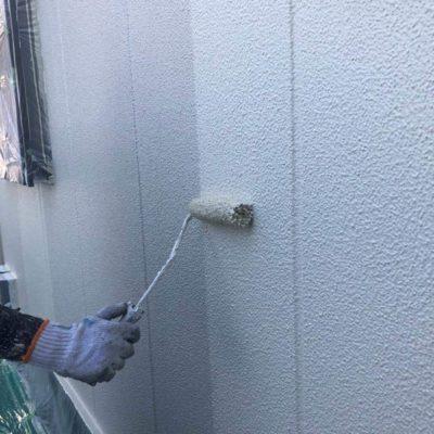 ALC外壁塗装 中塗り