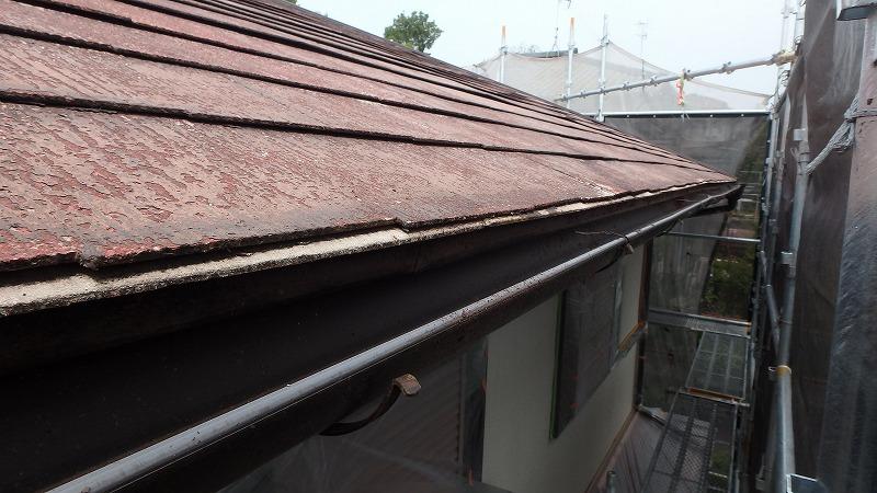 劣化した下屋根