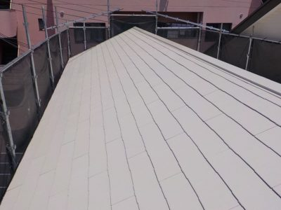 屋根リフォーム後の屋根全体