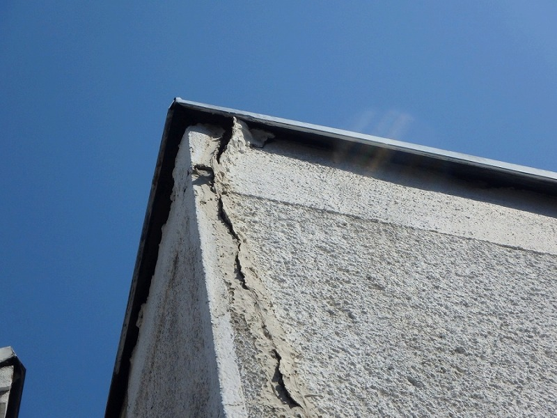 外壁クラックドローン撮影