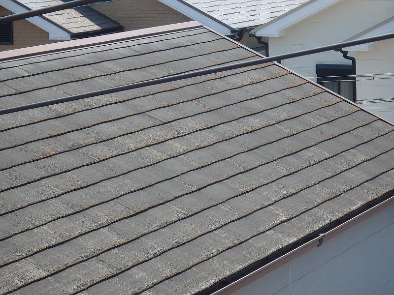 屋根リフォーム前の屋根全体