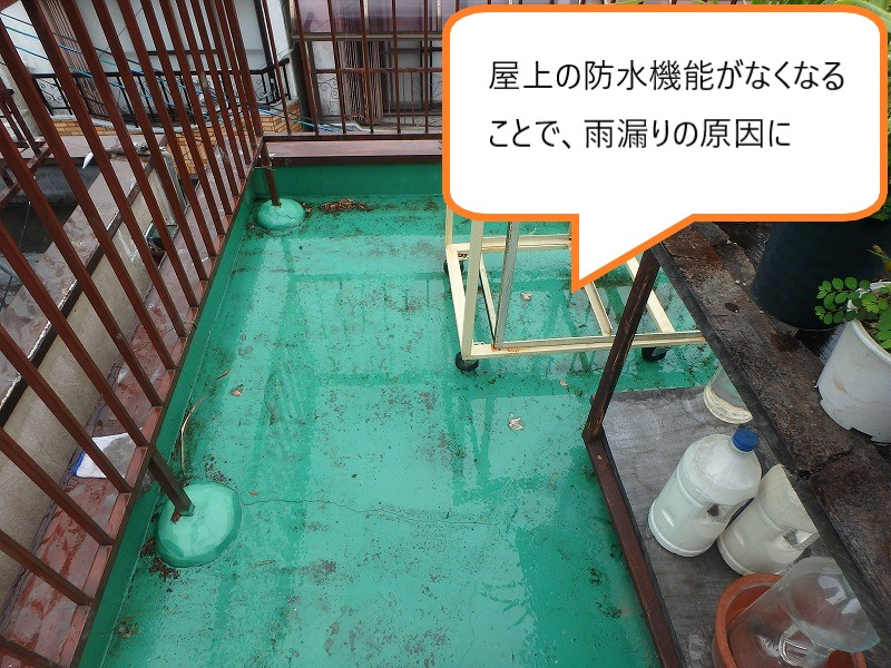 屋上防水施工前の屋上