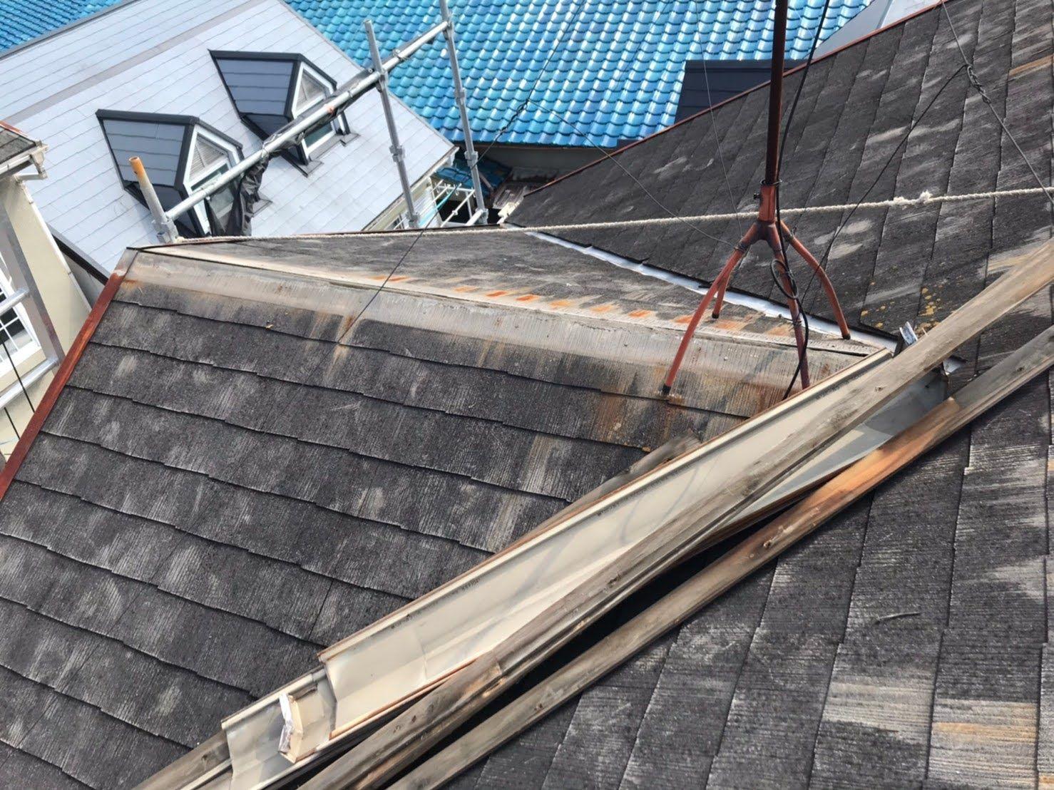棟板金の貫板が腐敗