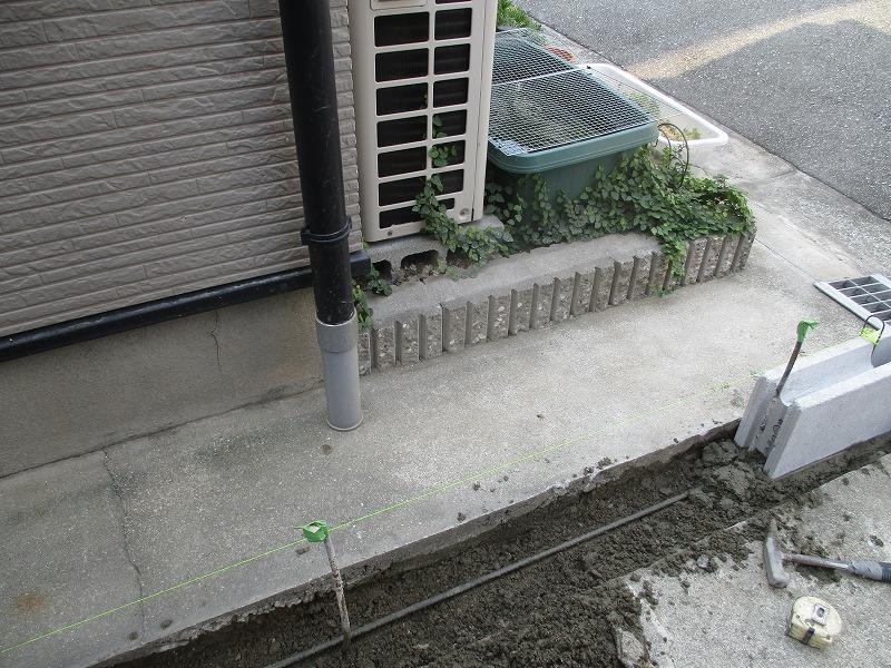 ブロック塀基礎工事