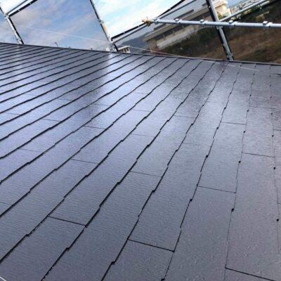 屋根塗装工事後の屋根全体